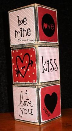 valentines blocks