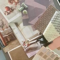 Preparing materials for some new moodboards . Neutral Color Scheme, Color Schemes, Mood Boards, Interior Inspiration, Claire, Colours, Instagram, Decor, R Color Palette