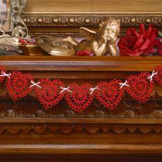 Crochet sweetheart swag pattern|Crochet heart motif pattern - Leisurearts