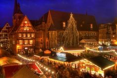 Christmas Market - Quedlinburg, Germany ... an exceptional example of a medieval town on the UNESCO World Heritage site list.