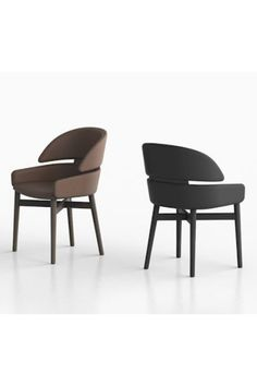 Fiam's Lloyd chair is a comfortable and enveloping chair, at the same time elegant and refined. Lloyd has a solid wood frame and is covered in leather in different finishes. #chair #livingroom #lloyd #fiam #arredaremoderno Modern Glass, Leather Cover, Solid Wood, Armchair, Dining Chairs, Living Room, The Originals, Elegant, Frame