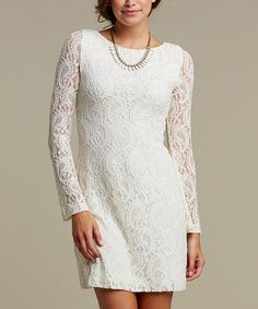 Take a look at this Ivory Lace Tula Dress - Women by TART Collections on #zulily today!