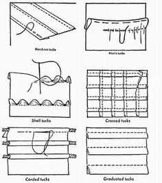 sewing tucks - 10 decorative tucks for home sewing projects
