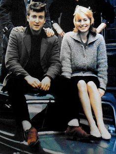 John Lennon and Cynthia Powell-Lennon (in 1959)