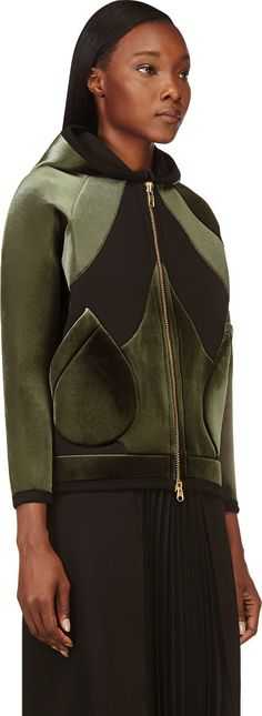 Denis Gagnon - Green Velvet & Jersey Double Face Jacket