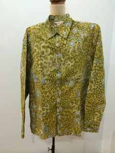 Men's shirt made from batik tulis Lasem. Shirt is made by Dongengan (Facebook: https://m.facebook.com/dongengan)