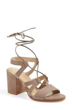 Stuart Weitzman 'Tiegirlbingo' Wraparound Lace Sandal (Women)