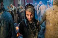Young girl in khorramabad during the ashura mourning , Iran