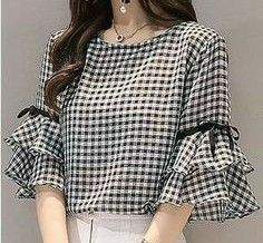 Find More at => Kurta Designs, Blouse Designs, Shirt Design For Girls, Indian Fashion Trends, Neckline Designs, Frock Design, Inspiration Mode, Classy Casual, Dress Cuts