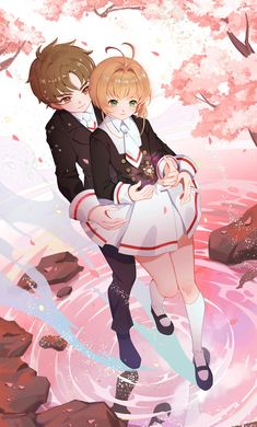 Li x Sakura Cardcaptor Sakura, Yue Sakura, Sakura Card Captor, Syaoran, Anime Love Couple, Cute Anime Couples, Manga Anime, Clear Card, Image Manga