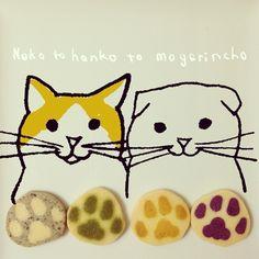 .cat's paw cookies.