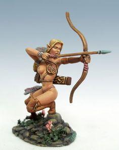 The Signal - Female Archer - Miniature Lines