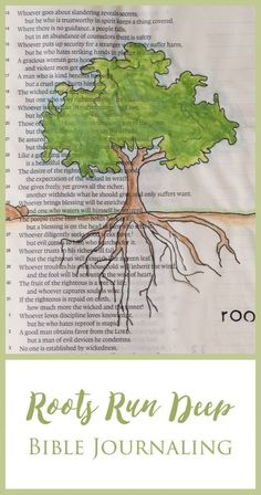 Do your roots run deep into the soil of God's Love and Mercy Check out my latest Bible Journaling and encouragement!