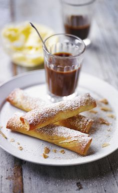 Make the most of leftover Christmas pudding with our recipe for Christmas pudding filo cigars dusted with golden icing sugar.  Serve the filo cigars warm with leftover brandy butter.