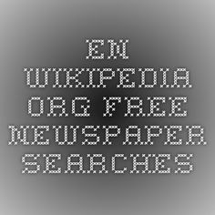 en.wikipedia.org Free newspaper searches