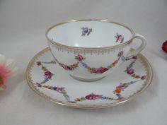 Vintage Schumann Bavaria Porcelain Teacup and by SecondWindShop