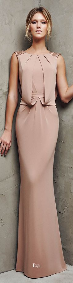 The latest nude and blush evening dresses, lace wedding gowns and sexy prom dresses. Elegant Dresses, Pretty Dresses, Stylish Dresses, Stylish Clothes, Bridesmaid Dresses, Prom Dresses, Formal Dresses, Dress Prom, Dress Hire