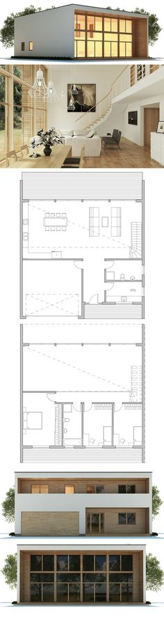 Container House - kleines Haus, Hausplan, moderne Architektur Mehr - Who Else Wants Simple Step-By-Step Plans To Design And Build A Container Home From Scratch? Building A Container Home, Container House Plans, Container Homes, Plans Architecture, Architecture Design, Small House Plans, House Floor Plans, Small Floor Plans, Town Country Haus