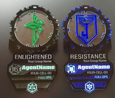 Awesome badges Etsy https://www.etsy.com/nl/listing/205218409/scanner-agent-badge-custom-name-group