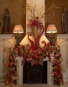 Christmas mantle: INspiration AWesomeness!