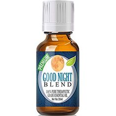 Good Night Essential Oil Blend 100% Pure, Best Therapeutic Grade - 30ml - Comparable to Doterra's Serenity & Young Living's Peace & Calming Blend - Chamomile, Clary Sage, Copaiba, French Lavender, Peru Balsam, Sandalwood, Sweet Marjoram, Ylang Ylang - 30ml / 1 (Oz) Ounce
