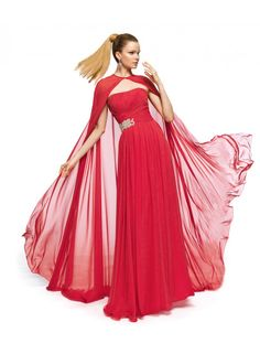 A-line Strapless Ruching Floor Length Chiffon Bridesmaid Dresses with Cloak WE0106