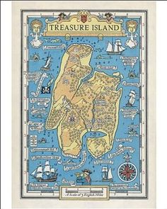 Treasure Island Book Map