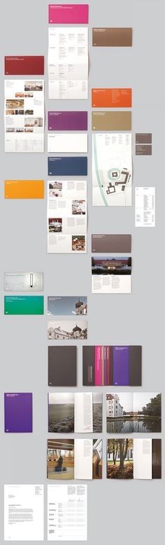 Modern #brochure and #booklet design. Things that fold out are so popular right now. I love the way these fold down instead of traditionally to the side.