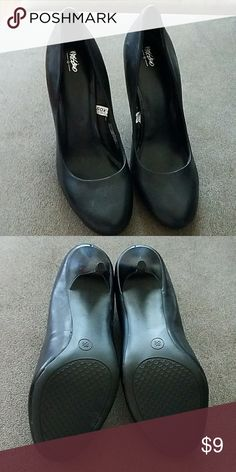 Mossimo black high heels Basic black heels with a rounded toe. Great for just about anything! Shoes Heels