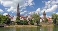 Blick auf Ulm über die Donau - Golden Tulip Parkhotel Neu-Ulm