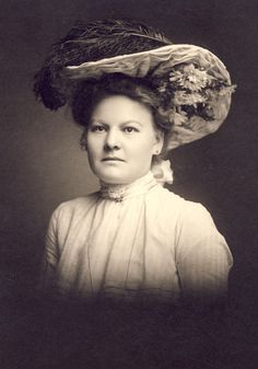 Beautiful Rosie In Her Fabulous EDWARDIAN FLOWER and FEATHER Hat Photo Circa 1905 Milwaukee Wisconsin by NiepceGallery on Etsy https://www.etsy.com/listing/232530701/beautiful-rosie-in-her-fabulous