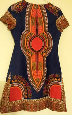 Dashiki African Print Dress ~African fashion, Ankara, kitenge, African women dresses, African prints, African men's fashion, Nigerian style, Ghanaian fashion ~DKK