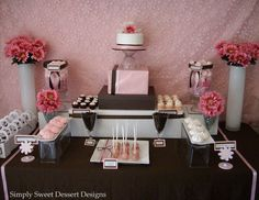 Baby Shower Cake Table | And this is the table decor from our latest baby shower.