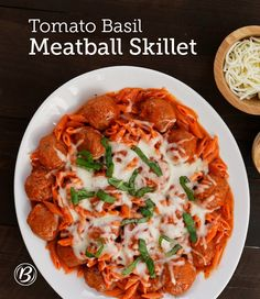 Frozen meatballs and fresh basil are a great combination for a quick and simple four-ingredient skillet dinner. In place of regular cooked meatballs, try Italian-seasoned for extra zing! Expert tip: Top off the skillet dinner with crunchy garlic croutons – they add great flavor and a delicious extra crunch.