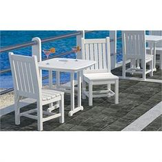 Bistro Outdoor Set - 3 Piece. http://www.furnitureforpatio.com/polywood-rockford-set.aspx