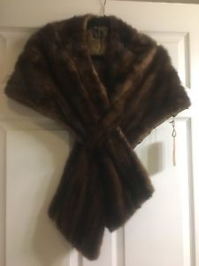 Vintage Brown Mink Stole/Cape/ Wrap - Needs Liner Repair Replacement | eBay
