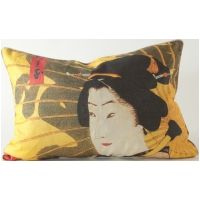 Geisha w/ Umbrella Pillow