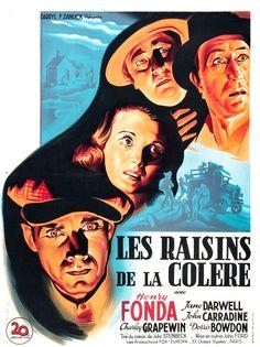 Les Raisins de la colère (The Grapes of Wrath), est un film américain réalisé par John Ford en 1940. Il est une adaptation du roman éponyme de John Steinbeck publié en 1939 et récompensé du prix Pulitzer l'année suivante. Ce film qui a obtenu deux oscars, fait partie des meilleurs films du cinéma américain.  https://fr.wikipedia.org/wiki/Les_Raisins_de_la_col%C3%A8re_(film)