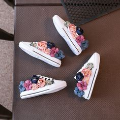 Buy it before it ends. There is always many products on sae upto - Beaded Korean Flower Girls Canvas Shoes - Pro Buyerz Casual Sneakers, Casual Shoes, Fashion Shoes, Kids Fashion, Fashion Hair, Modest Fashion, Korean Fashion, Baby Bling, Childrens Shoes