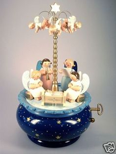 Wendt Kuhn Cradle Angels Music Box | eBay