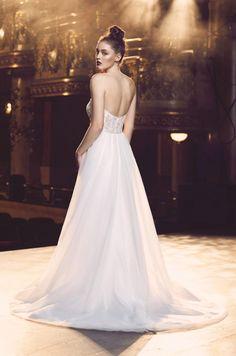 Tulle Overskirt Wedding Dress - Style #4710 | Paloma Blanca