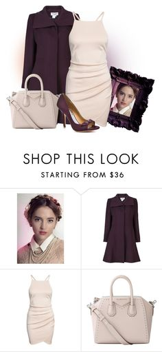 """""""Dress With Coat"""" by malathik ❤ liked on Polyvore featuring Helene Berman, Givenchy and Badgley Mischka"""