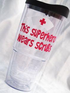 Items similar to Nurse Tumbler on Etsy Pink Carnations, Acrylic Tumblers, Nurses Week, Water Bottle, Diy Crafts, Vinyls, Gifts, Monograms, Etsy