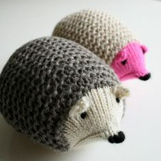 I have got to make this little knit hedgehog for my girl. What a cute pattern - see more kids