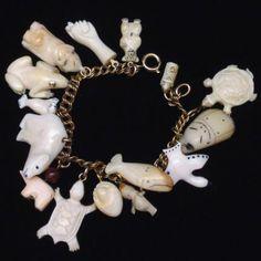 Ivory charm bracelet
