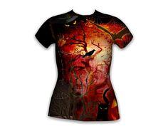"""All over T-Shirt design """"Halloween"""""""
