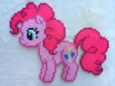 Pinkie Pie - My Little Pony Friendship is Magic perler beads by PrettyPixelations