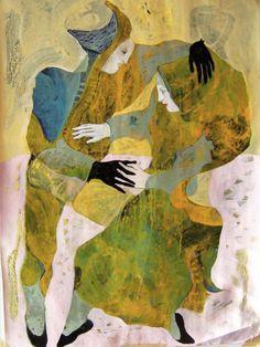 "Saatchi Online Artist: Nadja Jovanovic; Acrylic, Painting ""the game"""