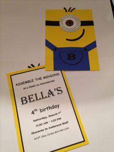 Bella's minion invitations :) Thank goodness for the cricut!