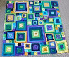 Babette crochet quilt.  Original layout design.